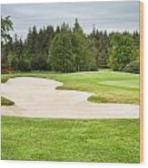 Golf Course Wood Print