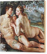 Goltzus' The Fall Of Man Wood Print