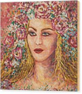 Good Fortune Goddess Wood Print