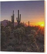 Good Morning Arizona  Wood Print