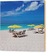 Grace Bay Beach Wood Print
