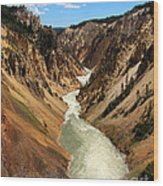 Grand Canyon Of Yellowstone Wood Print