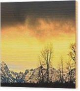 Grand Tetons Wyoming Wood Print