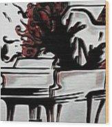 Grandpiano Wood Print by Kiara Reynolds