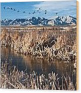 Great Salt Lake Utah Wood Print by Utah Images