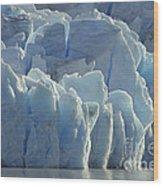 Grey Glacier In Chilean National Park Wood Print