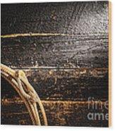 Grunge Lasso Wood Print