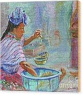 Guatemala Impression Iv Wood Print
