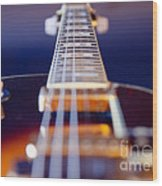 Guitar Wood Print by Stelios Kleanthous