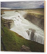 Gullfoss waterfall Iceland Wood Print