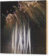 Guy Fawkes Night At Gloucester Quay. Wood Print