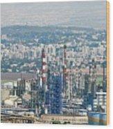 Haifa Petrochemical Plant Wood Print