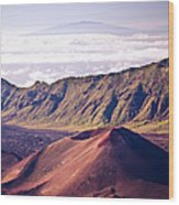 Haleakala Sunrise On The Summit Maui Hawaii - Kalahaku Overlook Wood Print