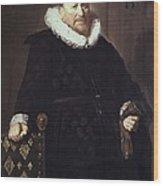 Hals, Frans 1580-1666. Portrait Wood Print