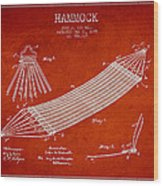 Hammock Patent Drawing From 1895 Wood Print