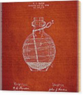 Hand Grenade Patent Drawing From 1884 Wood Print