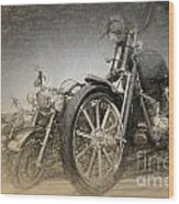 Harley Davidsons Wood Print