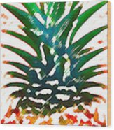 Hawaiian Pineapple Wood Print