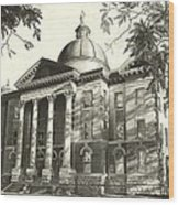 Hays County Courthouse Wood Print