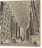 Hays Galleria London Sketch Wood Print