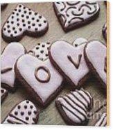 Heart Cookies Wood Print