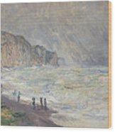Heavy Sea At Pourville Wood Print