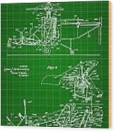 Helicopter Patent 1940 - Green Wood Print