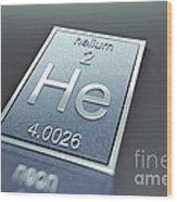 Helium Chemical Element Wood Print