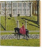 Her Favorite Horse Wood Print