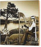 High Fashion Harp Wood Print