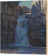 High Force Waterfall Wood Print