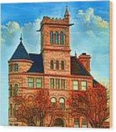 Historic City Hall Springfield  Mo Wood Print