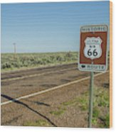 Historic Old Route 66 Passed Wood Print