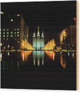 Historic Temple And Square In Salt Lake Wood Print
