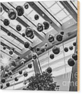 Holiday Glass Ornament Decorations At The Aria Resort And Casino Wood Print