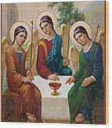 Holy Trinity - Sanctae Trinitatis Wood Print
