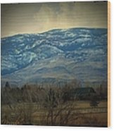 Home Is Nevada Wood Print