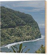 Honomanu - Highway To Heaven - Road To Hana Maui Hawaii Wood Print