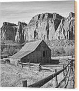 Horse Barn In Fruita Utah Wood Print