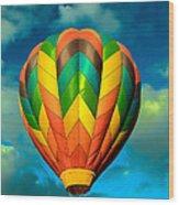 Hot Air Balloon Wood Print by Robert Bales