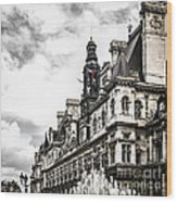 Hotel De Ville In Paris Wood Print by Elena Elisseeva