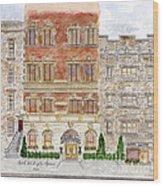 Hotel Washington Square Wood Print