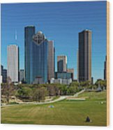 Houston, Texas - High Rise Buildings Wood Print