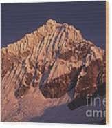 Mt Huandoy Sunrise Peru Wood Print