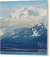 Hubbard Glacier Alaska Wood Print