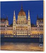 Hungarian Parliament In Budapest Wood Print