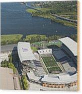 Husky Stadium At The University Wood Print
