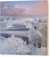 Iceland, Skaftafell, Jokulsarlon Wood Print