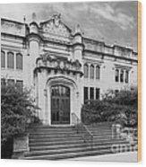 Illinois Wesleyan University Buck Memorial Library Wood Print