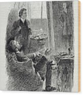 Illustration From The Picture Of Dorian Wood Print